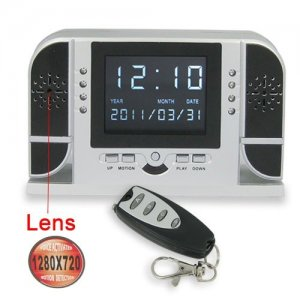 Motion Detecting Digital Clock with HD Hidden Camera and Night Vision